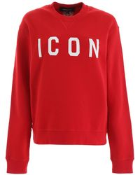 DSquared² Icon Printed Sweatshirt - Red