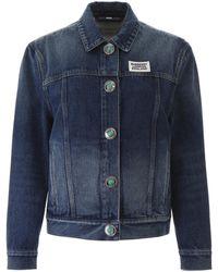 Burberry Logo Patch Denim Jacket - Blue