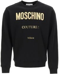 Moschino Golden Logo Sweatshirt - Black