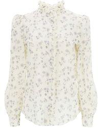 See By Chloé Prairie Print Cotton Voile Shirt - White