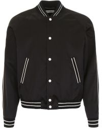 Saint Laurent Vintage Satin Bomber Jacket - Black