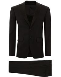 DSquared² London Fit Suit With Crystals 50 Wool - Black