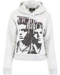 DSquared² Vicious Bros Hoodie - Gray