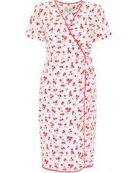 HVN Cherry Print Vera Dress - Red