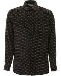 Saint Laurent Studded Shirt - Black