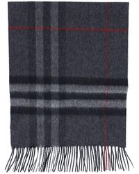 Burberry Giant Check Scarf - Gray