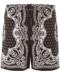 Dolce & Gabbana Bandana Print Swim Trunks - Black