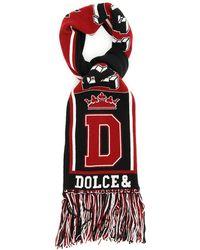 Dolce & Gabbana Sciarpa Royal Love - Rosso