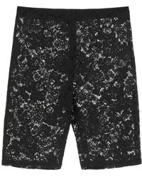 Stella McCartney Isla Lace Shorts 38 Cotton - Black