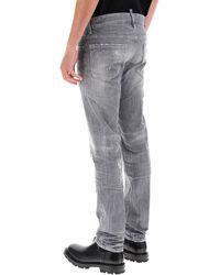 DSquared² Grey Wash Slim Jeans