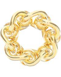 Bottega Veneta Yellow Gold Chain Ring - Metallic