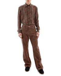 Etro Paisley Jeans - Brown