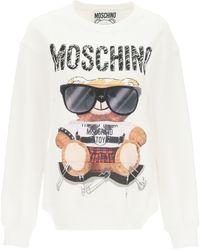 Moschino Mixed Teddy Bear Crewneck Sweatshirt - White