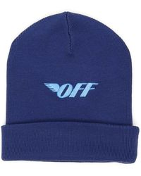 Off-White c/o Virgil Abloh Embroidered Beanie - Blue
