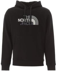 The North Face Logo Embroidery Hoodie - Black
