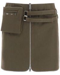 Coperni Explorer Mini Skirt 36 Cotton - Green