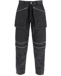 Youths in Balaclava Riders Convertible Jeans - Black