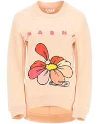 Marni Flowers Print Sweatshirt - Pink