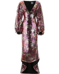 Halpern Long Sequins Dress - Red
