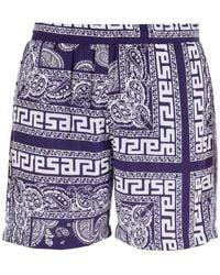 Aries Bandana Print Shorts M - Blue