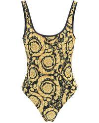 Versace Barocco Print One Piece Swimsuit - Multicolor