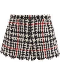 RED Valentino Maxi Houndstooth Shorts - Multicolour