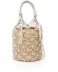 Miu Miu - Net Bucket Bag With Basket - Lyst