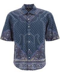 Etro Scarf Print Short-sleeved Shirt - Blue
