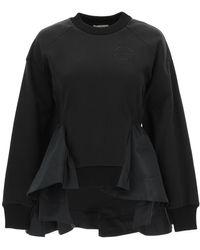 Alexander McQueen Peplum Sweatshirt - Black