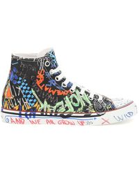 Vetements High Top Trainers With Graffiti Print - Multicolour