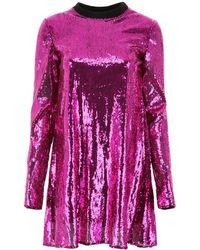 Philosophy Sequins Mini Dress - Purple