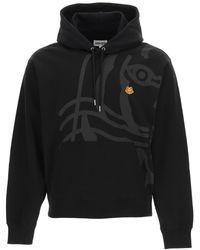 KENZO K-tiger Hoodie S Cotton - Black