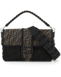 Fendi Baguette Large Os Synthetic - Brown