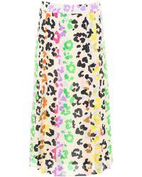 Essentiel - Multicolor Leopard Print Skirt - Lyst