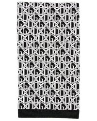 Dolce & Gabbana Dg Beach Towel - Black