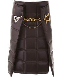 Bottega Veneta Quilted Skirt - Brown