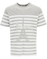 Maison Kitsuné Parisien Tower Print T-shirt - Grey