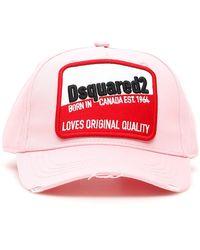 DSquared² Logo Patch Baseball Cap - Pink