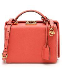 Mark Cross Grace Small Bag Caviar - Pink