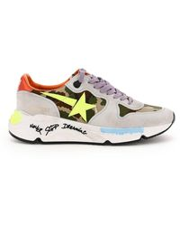 Golden Goose Deluxe Brand SNEAKERS RUNNING SOLE CAMOUFLAGE SIGNATURE - Multicolore