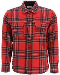 Saint Laurent Tartan Flannel Shirt - Red