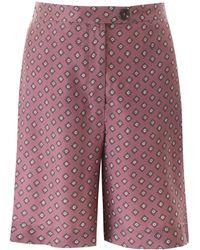 Max Mara Printed Silk Shorts - Pink