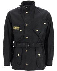 Barbour International Original Jacket In Waxed Cotton - Black