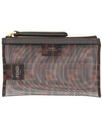 Fendi Small Ffreedom Pouch - Brown