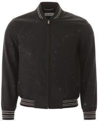 Saint Laurent Galaxy Teddy Bomber Jacket - Black