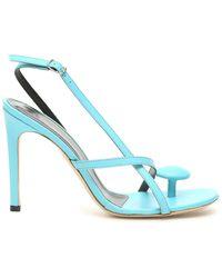 Coperni Open Toe Oval Sandals 36 Leather - Blue