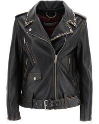Golden Goose Biker Jacket With Studs - Black