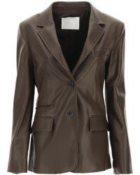 DROMe Plongé Nappa Blazer S Leather - Brown