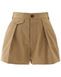DSquared² Short Pants 42 Cotton - Natural