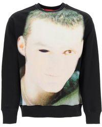 032c Crewneck Sweatshirt With Debut Print S Cotton - Black